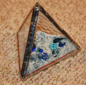 "3"" Pyramid - Dark Blue"