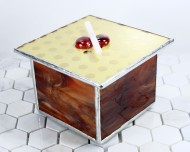 These square jewelry boxes include two felt-lined removable trays that are perfect for rings and other jewelry.